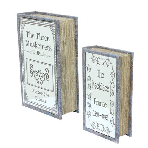 11372 Book Box Nj PC Com Espelho The Three