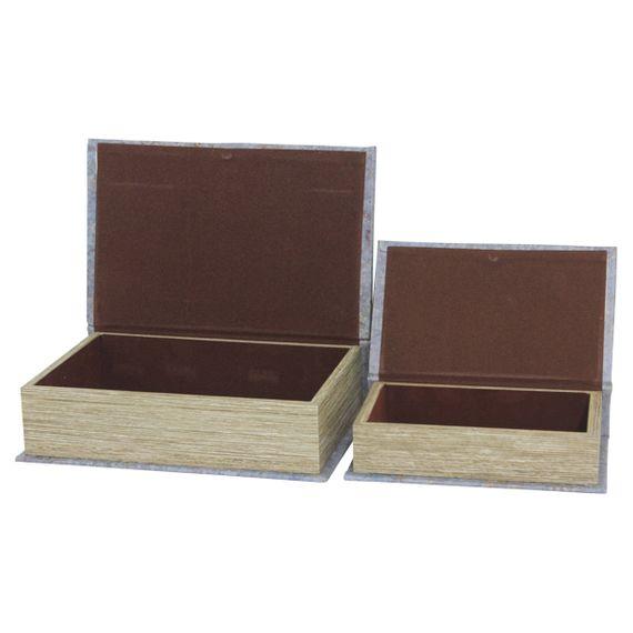 11373 Book Box CJ PC Com Espelho The Financier