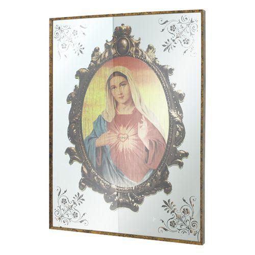 11414 Quadro Espelhado Sagrado Coração de Maria
