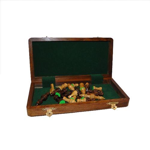 36007 Caixa de Madeira com Jogo de Xadrez - Peças com Imã