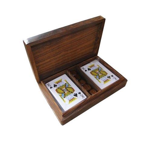 36012 Caixa de Madeira Para Cartas e Dados