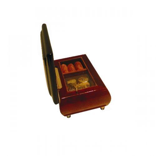 17017 Caixa Musical - Nogueira Key
