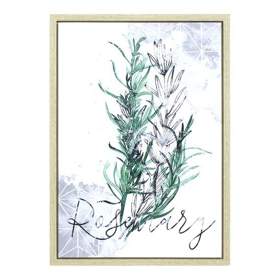 12926 Tela Impressa C/ Mol Folhas Rosemary
