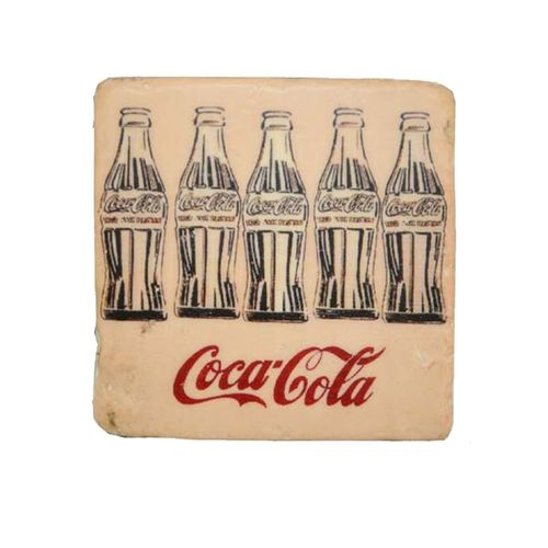 19040 Kit Porta Copos em Resina Coca Cola - 4 Peças