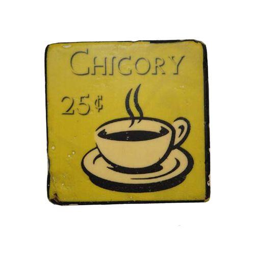 19043 Kit Porta Copos em Resina Xícara de Café - 4 Peças
