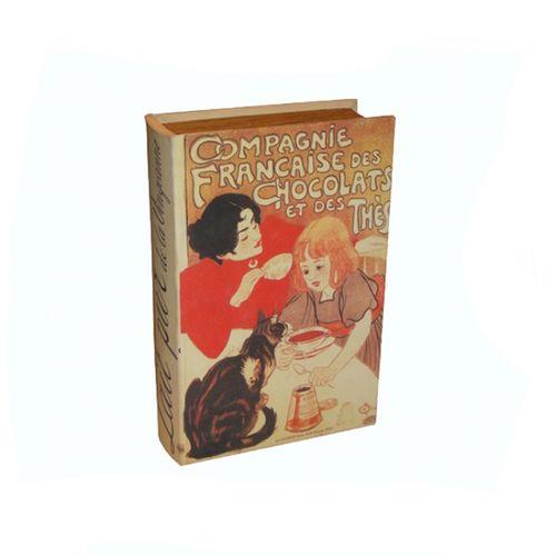 11083 PORTA ÍTENS (ESTOJO) - BOOK BOX 2PC COMPAGNIE FRANÇAISE - OLDWAY - 27X18,5