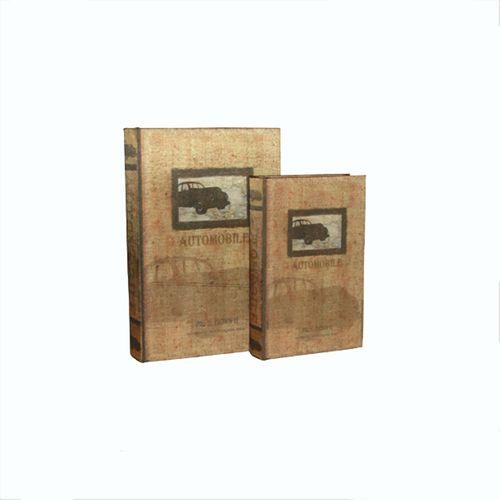 11063 LIVRO (BOOKBOX) CJ 2pc SEDA AUTOMOBILE OLDWAY33x22
