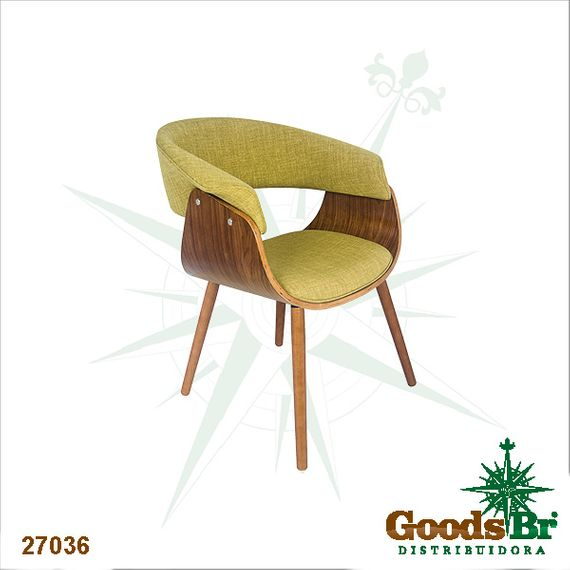 27036 Cadeira Com Encosto Vergada Verde