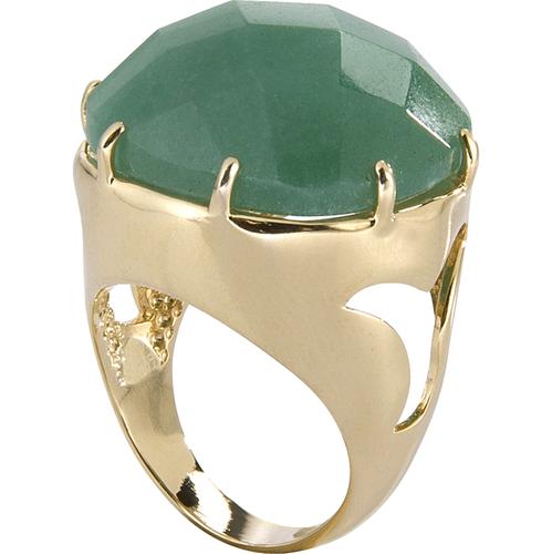 MRAN24QV Anel Com Quartzo Verde