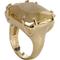 MRAN31CR Anel Com Pedra Lapidada Cristal Rutilado Formato Quadrado
