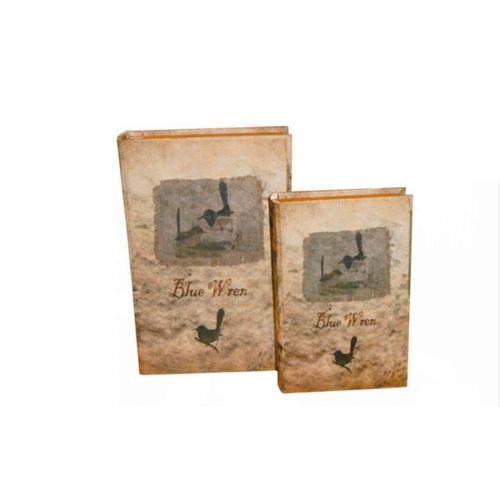 11071 LIVRO (BOOK BOX) - DUAS PEÇAS - BIRDS - OLDWAY 33x22cm