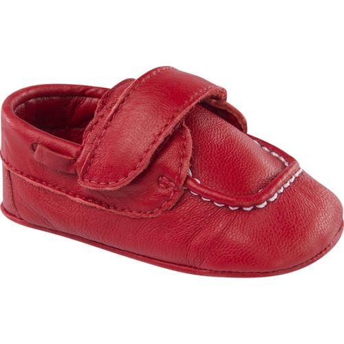 Mocassim infantil couro vermelho 5123