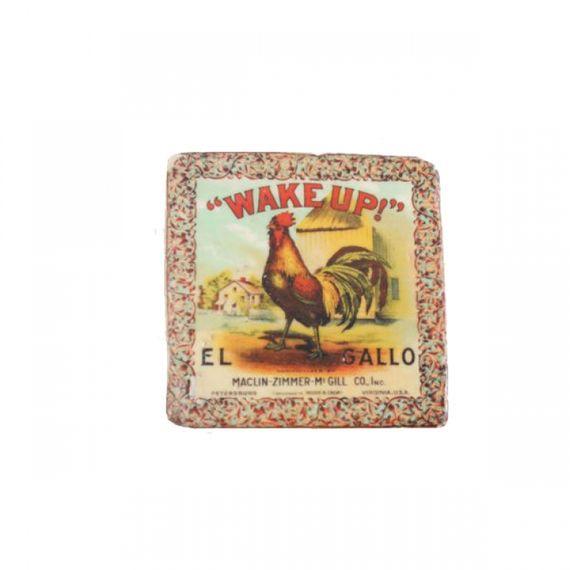 19130 Kit Porta Copos de Resina Wake Up El Gallo - 3 Peças