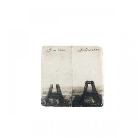 19127 Kit Porta Copos de Resina Construção Torre Eiffel - 3 Peças