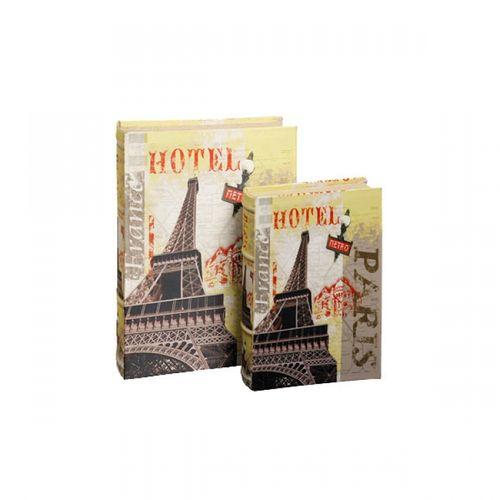 11129 LIVRO (BOOK BOX) - DUAS PEÇAS - EIFFEL HOTEL - OLDWAY - 33X22CM