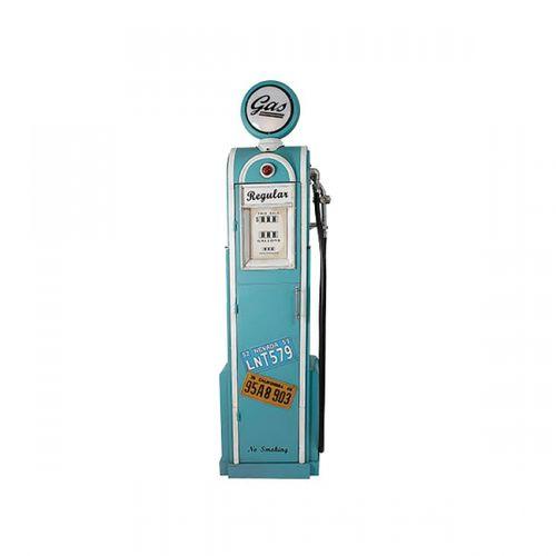 14092 Bomba de Gasolina Azul Com Placa Iluminada