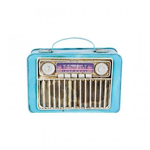 47131 Rádio Retro Cofre Azul