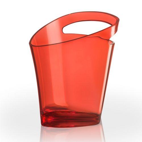 4.3.8 Balde vermelho com alça única - Fundo e paredes reforçadas para evitar dissipação de temperatura