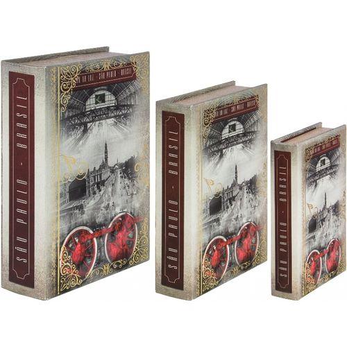 11224 CONJUNTO BOOK BOX SÃO PAULO ESTAÇÃO DA LUZ - OLDWAY - 36x25x10cm