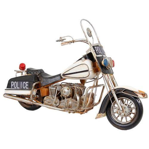 47134 Moto Police GR - Tanque Branco