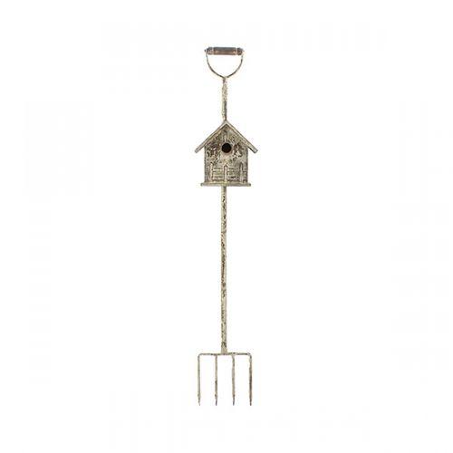 63015 Casa de Pássaro com Suporte de Garfo Pequeno