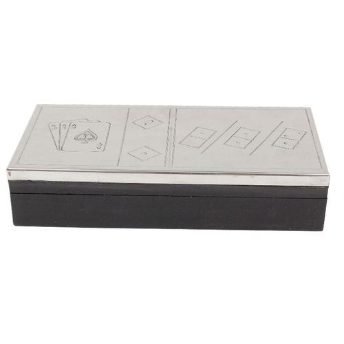 36089 Caixa de Madeira Para Dominó, Dados e Cartas