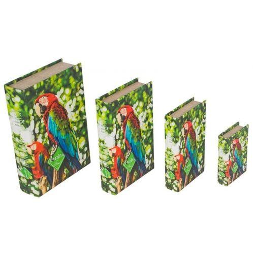 11262 BOOK BOX - 4 PEÇAS - ARARA VERMELHA AMAZONIA - FULLWAY - 30x21x7CM
