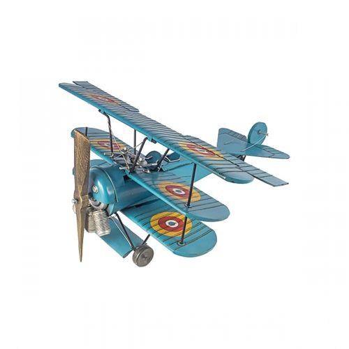 14101 Avião Três Asas - Mini /Azul