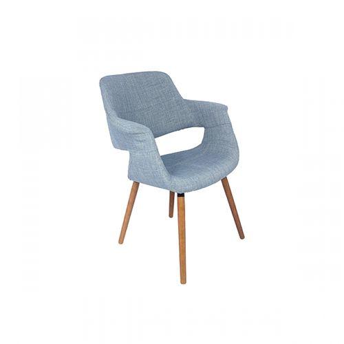 27033 Cadeira com Braço Encosto e Acento em Tecido Jeans