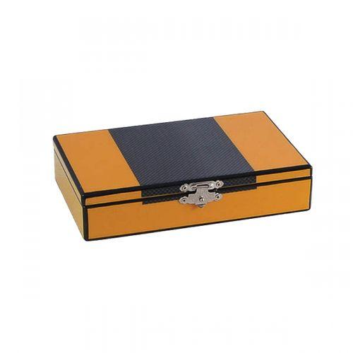 59016 Caixa Para Baralho e Dados - Amarela Grafit