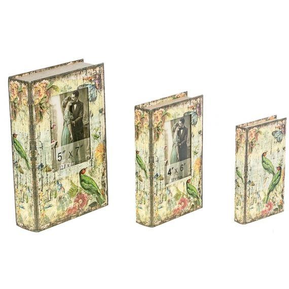 11238 BOOK BOX COM FOTO PASSARO 3 PEÇAS OLDWAY