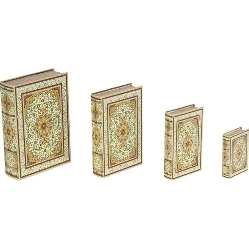 11250 BOOK BOX CONJUNTO 4 PEÇAS DESIGN TAPETE CLARO OLDWAY 30x21x7
