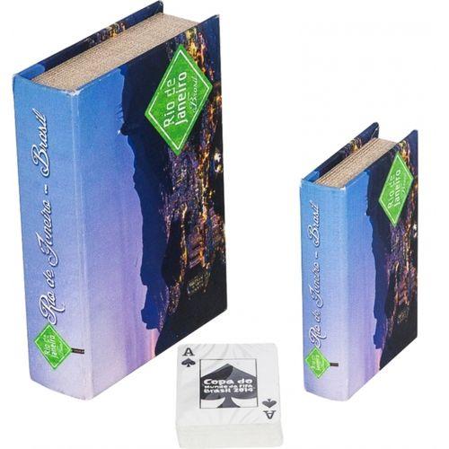 11269 BOOK BOX CONJUNTO DUAS PEÇAS + CARTAS RIO JANEIRO FULLWAY20x14x4