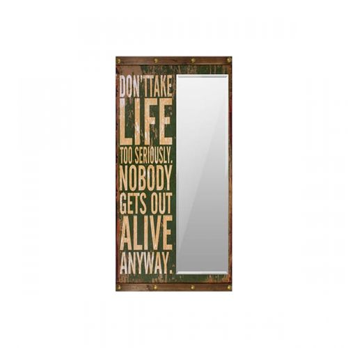 31108 ESPELHO DONT TAKE LIFE TO SERIOUSLY OLDWAY 160x80