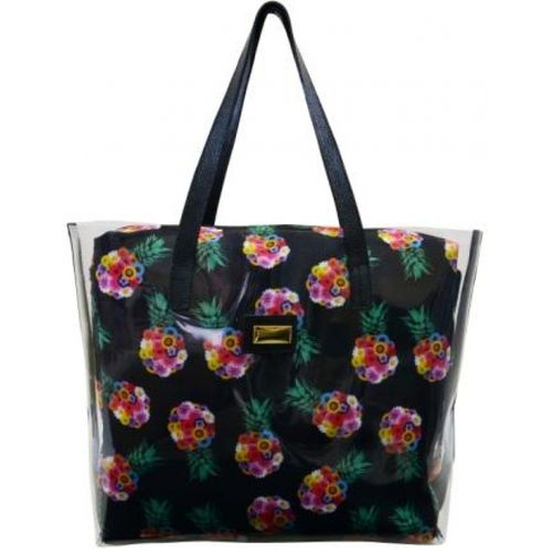 104125 Bolsa de PVC Estilo Shopping Bag - Estampa Abacaxi