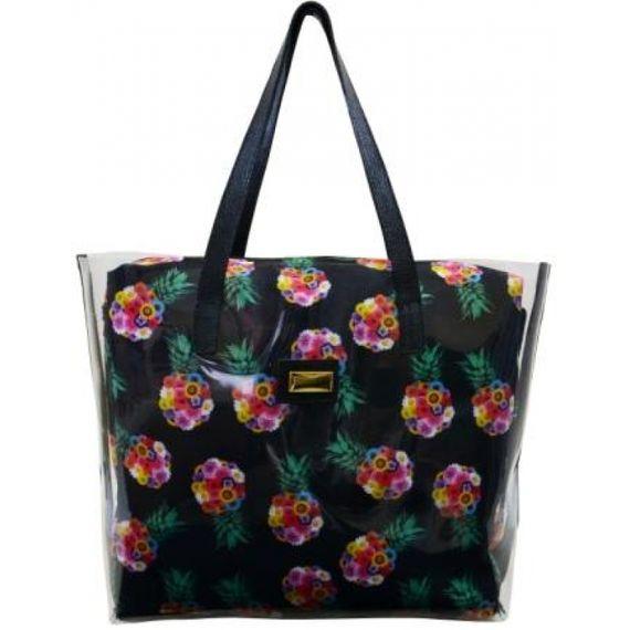 104125 Bolsa de PVC Estilo Shopping Bag - Estampa Abacaxi