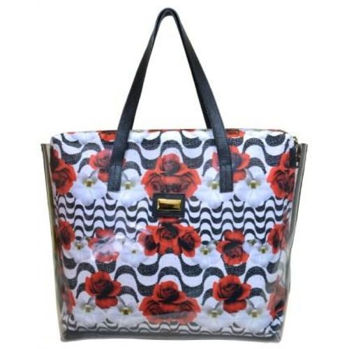 104101 Bolsa de PVC Estilo Shopping Bag - Estampa Copa Cabana