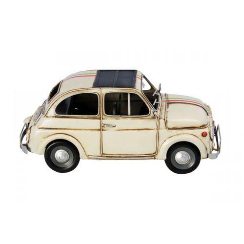 47199 Carro Fiat 500 Amarelo em Metal
