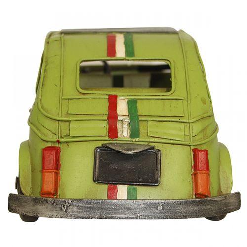 47192 Carro Fiat 500 Verde em Metal
