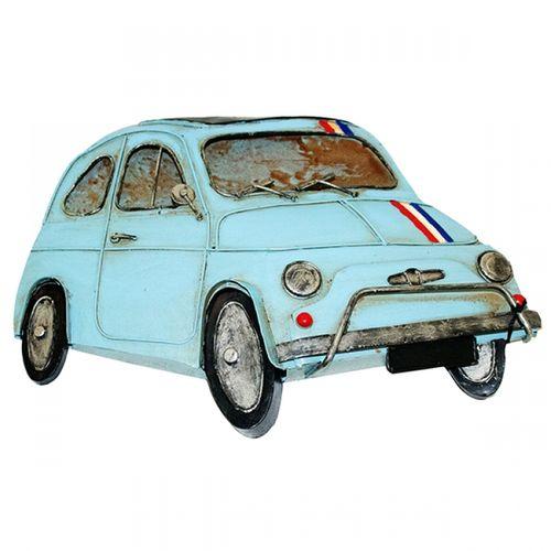 47193 Carro Fiat 500 Azul em Metal para Pendurar