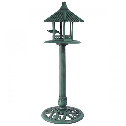 103005 Comedouro Com Telhado Verde Pássaros