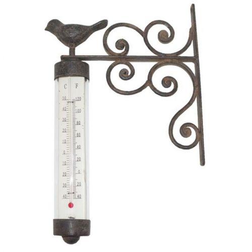 19240 Termômetro com Pássaro Tipo Estação