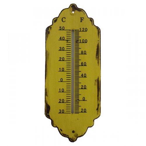 19201 Termômetro em Metal Amarelo