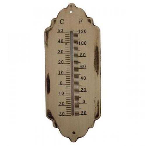 19202 Termômetro em Metal Branco