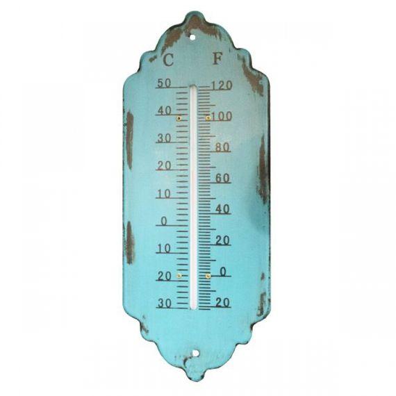 19203 Termômetro em Metal Trab Azul