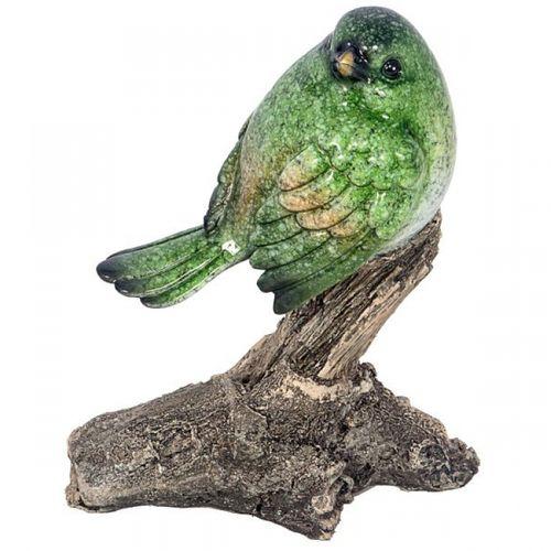92026 Estátua Pássaro Verde Galho
