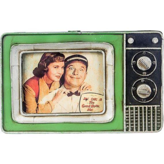 47156 Porta Retrato Mini TV Verde