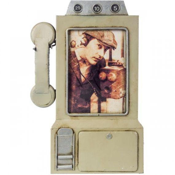 47158 Porta Retrato Telefone Cinza