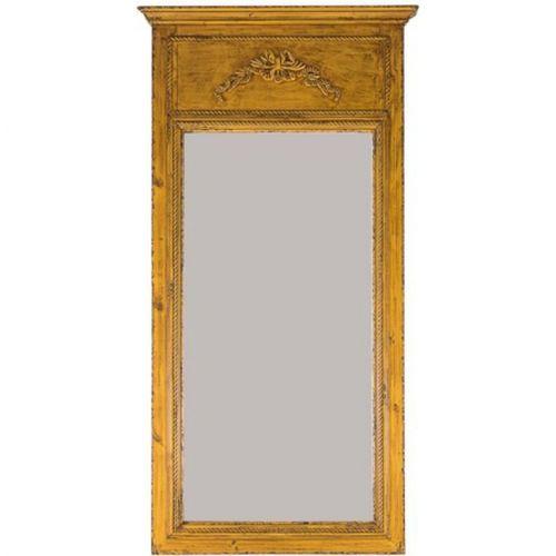 19241 Espelho Trabalhado Moldura Amarela