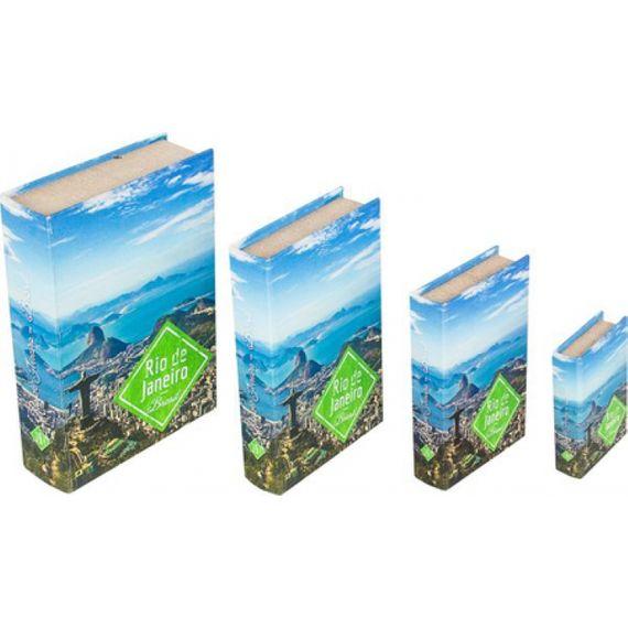 11265 BOOK BOX CJ 4PC RIO DE JANEIRO FULLWAY 30x21x7cm